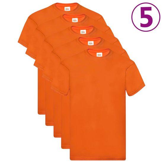 shumee Fruit of the Loom Oryginalne T-shirty, 5 szt., pomarańcz, 3XL, bawełna