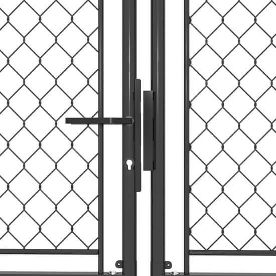 shumee antracitszürke acél kertkapu 400 x 200 cm