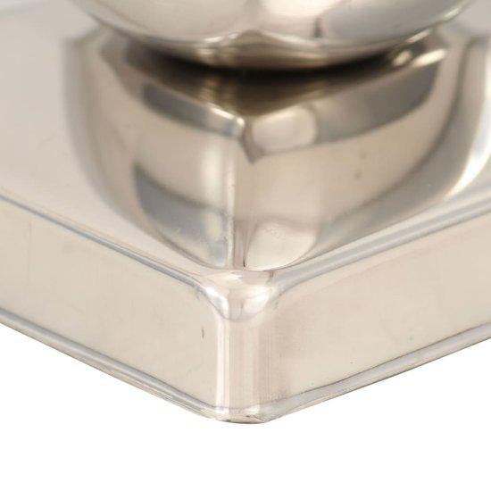 shumee Krytky na plotové sloupky 6 ks s koulí nerezová ocel 81 x 81 mm