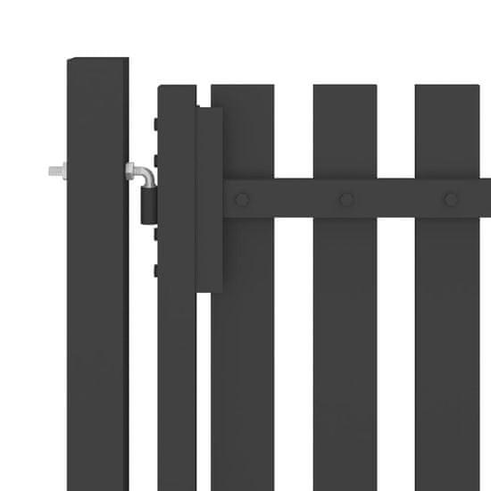 shumee Brama ogrodzeniowa, stalowa, 4 x 1,25 m, antracytowa