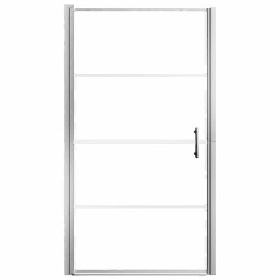 shumee Sprchové dvere nepriehľadné tvrdené sklo 100x178 cm