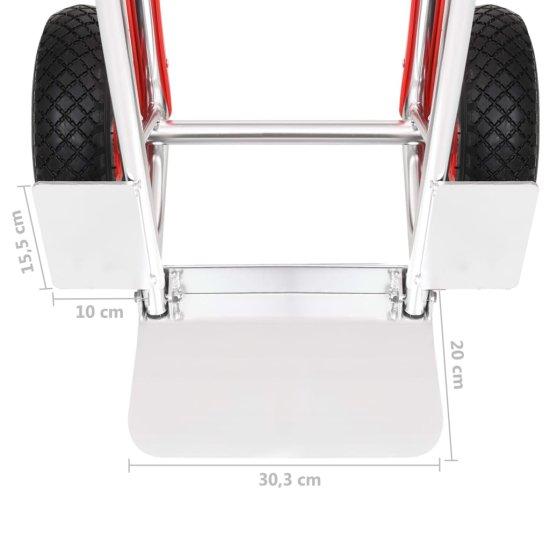 shumee Wózek ręczny z uchwytami, 49,5x45x118 cm, aluminiowy, 150 kg
