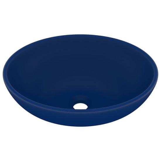 shumee Luksusowa, owalna umywalka, matowy granat, 40x33 cm, ceramiczna