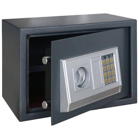 shumee Elektroniczny sejf cyfrowy z półką, 35 x 25 x 25 cm