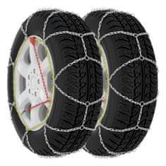 shumee Snehové reťaze na pneumatiky 2 ks 16 mm, SUV 4x4, veľkosť 390
