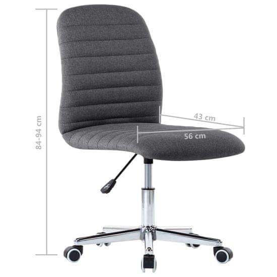shumee Obrotowe krzesło biurowe, szare, tapicerowane tkaniną