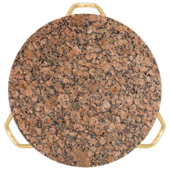 shumee Stolik kawowy, czerwony, 40x40x40, kamień o teksturze marmuru