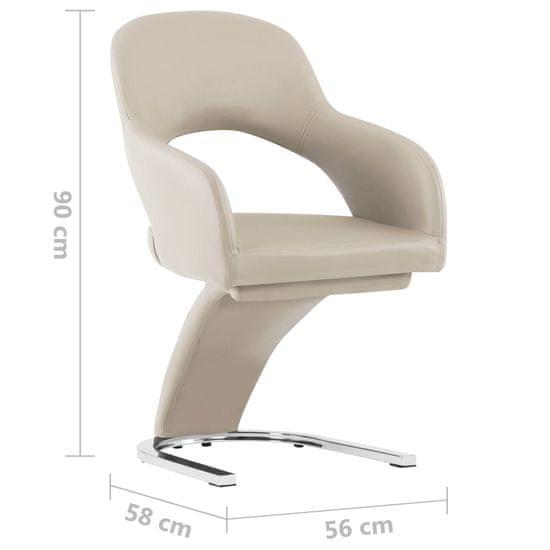 shumee Krzesła stołowe, 4 szt., cappuccino, sztuczna skóra
