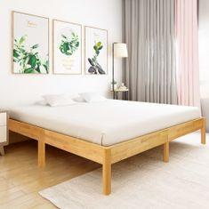 shumee Posteľný rám, dubový masív 180x200 cm