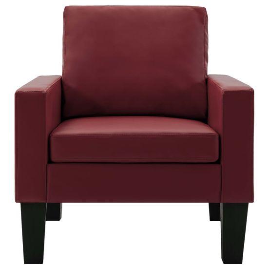 Greatstore Komplet kavčev 2-delni vinsko rdeče umetno usnje