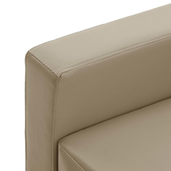 Greatstore Komplet kavčev 2-delni kapučino umetno usnje