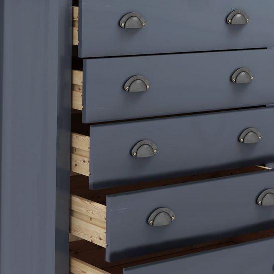 shumee Hill Range 5 fiókos szürke tömör fenyőfa komód 79x40x96,5 cm