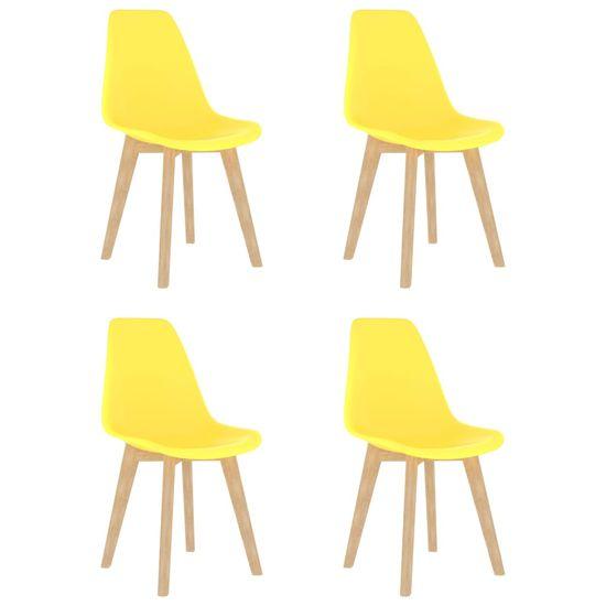 shumee 5-częściowy zestaw mebli jadalnianych, żółty