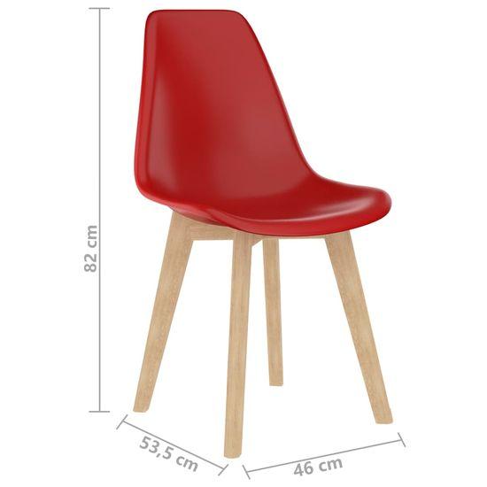 shumee Jedilni stoli 2 kosa rdeča plastika