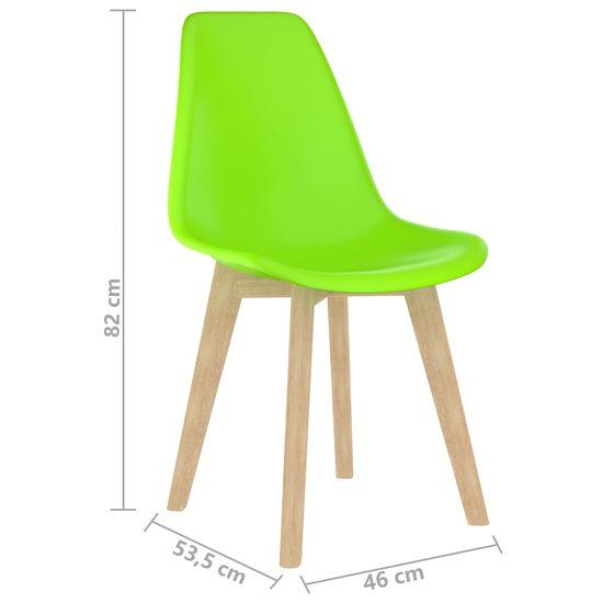 shumee Jedilni stoli 4 kosi zelena plastika