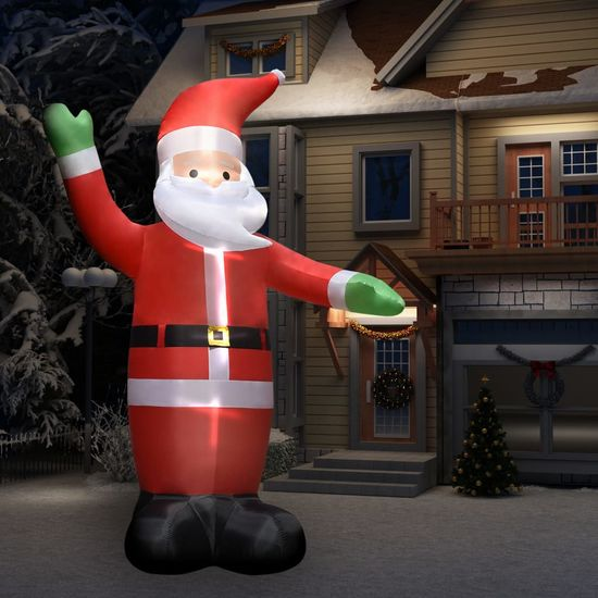 shumee Napihljiv Božiček z LED lučkami božična dekoracija IP44 4,5 m