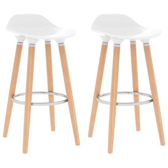 shumee Barski stolčki 2 kosa bele barve