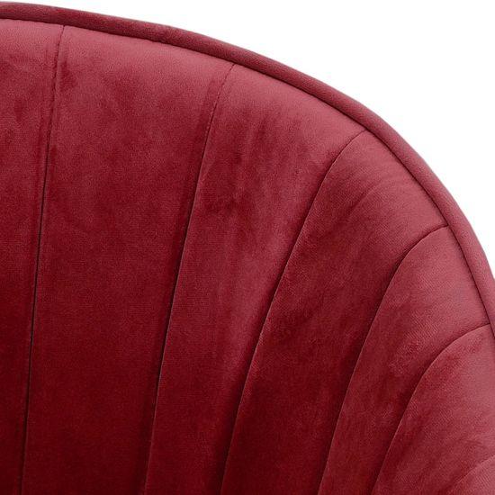 shumee Jedilni stol vinsko rdeč žamet