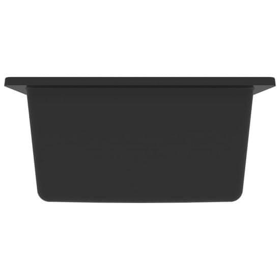 shumee Zlew kuchenny z otworem przelewowym, czarny, granitowy