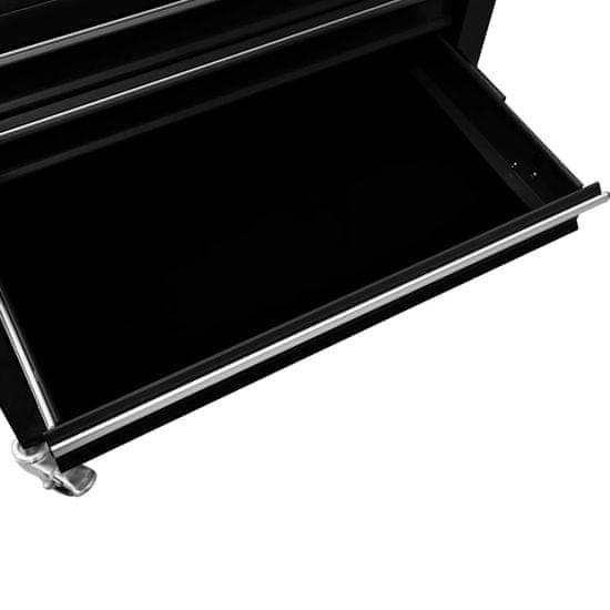 shumee Wózek narzędziowy z 4 szufladami, stalowy, czarny