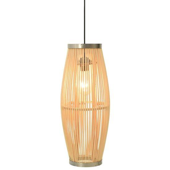 shumee Lampa wisząca, wiklinowa, 40 W, 23x55 cm, owalna, E27