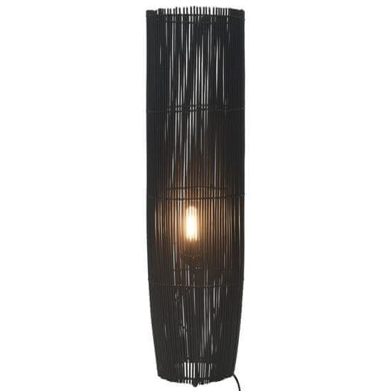 shumee Stoječa svetilka iz vrbe črna 61 cm E27