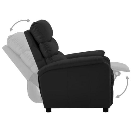 shumee Fotelj iz umetnega usnja črn