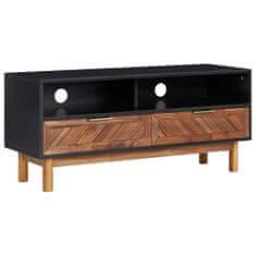 shumee TV omarica 100x35x45 cm trden akacijev les in mediapan