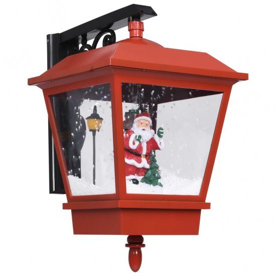 shumee Božična stenska svetilka LED z Božičkom rdeča 40x27x45 cm
