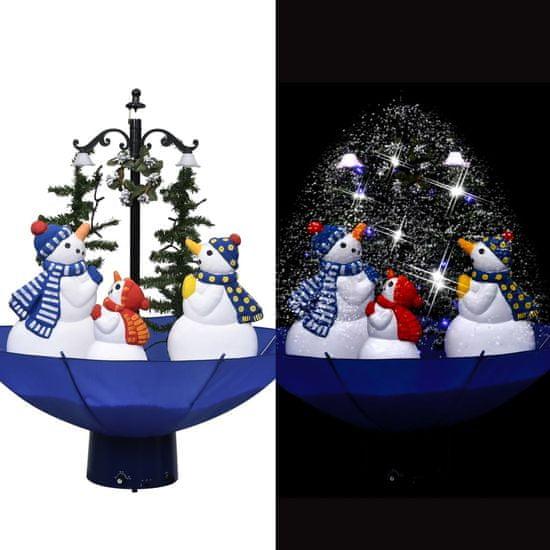 shumee Novoletna jelka s sneženjem in podstavkom modra 75 cm PVC