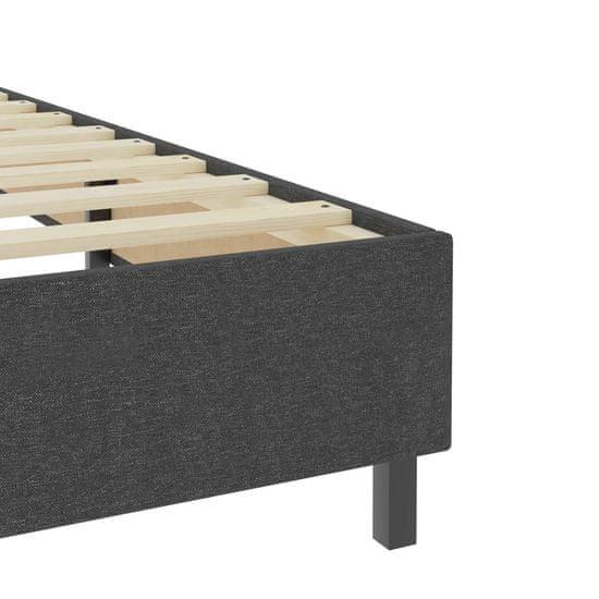 shumee Boxspring postelja temno sivo blago 160x200 cm