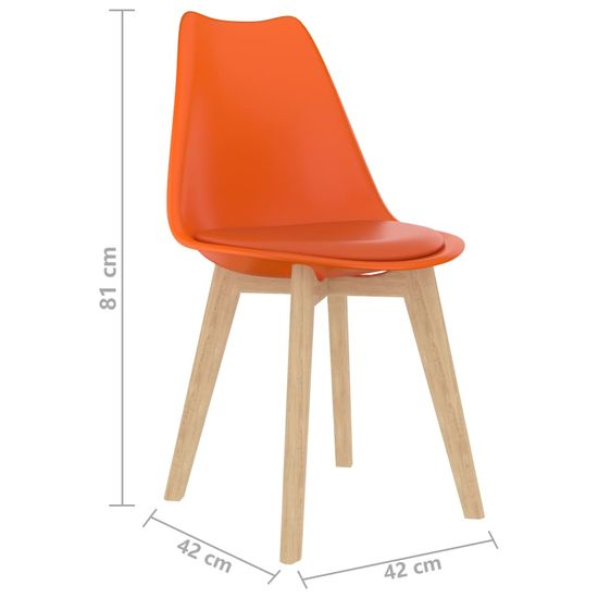 shumee Jedilni stoli 2 kosa oranžna plastika
