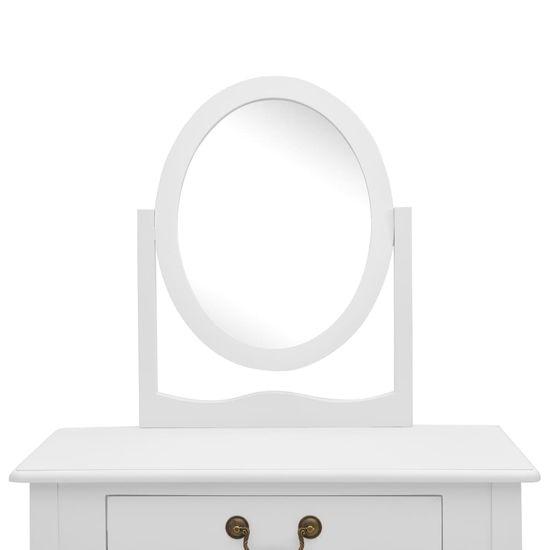 shumee fehér császárfa MDF fésülködőasztal ülőkével 65x36x128 cm
