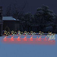 shumee 6 świątecznych reniferów z saniami, XXL, 2160 LED, 7 m