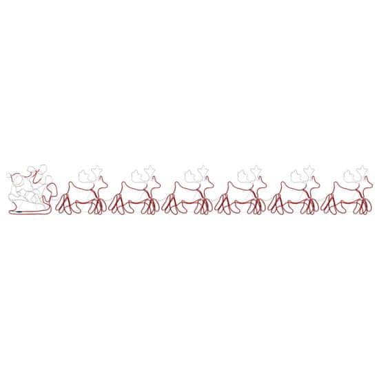 shumee Božični okras 6 XXL jelenov in sani 2160 LED 7 m