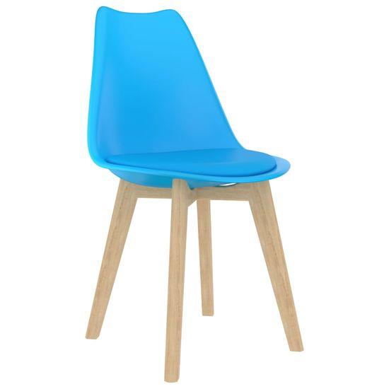shumee Jedilni stoli 2 kosa modra plastika