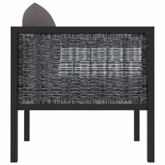 Greatstore Sekcijski kotni kavč z desnim naslonjalom poli ratan antraciten