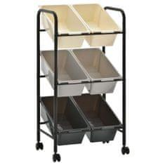 shumee 6 košíků na hračky úložný vozík ombré plast