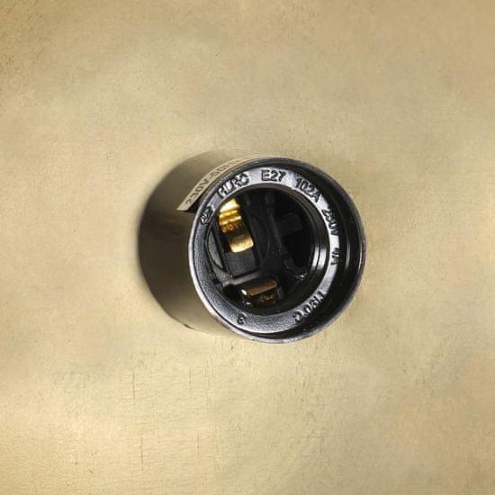 shumee kerek sárgaréz ipari függőlámpa 25 W 41 cm E27