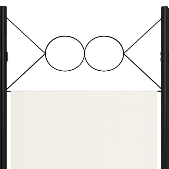 shumee krémfehér 6 paneles paraván 240 x 180 cm