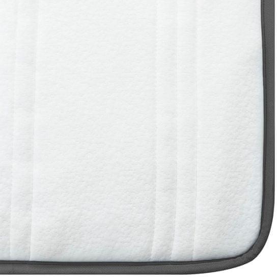 Greatstore Boxspring postelja temno siva iz blaga 140x200 cm