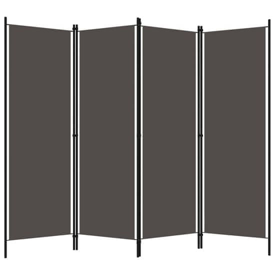 shumee antracitszürke 4 paneles paraván 200 x 180 cm