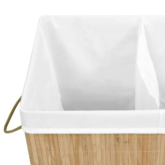 shumee Košara za perilo iz bambusa 100 L