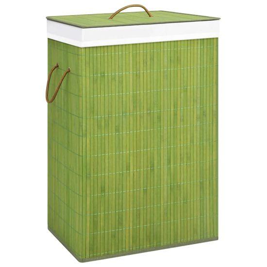 shumee Košara za perilo iz bambusa zelena