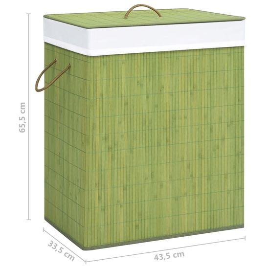 shumee Bambusový kôš na bielizeň, zelený 83 l