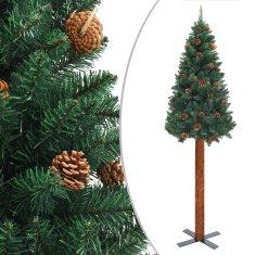 shumee Ozka novoletna jelka pravi les in storži zelena 180 cm PVC