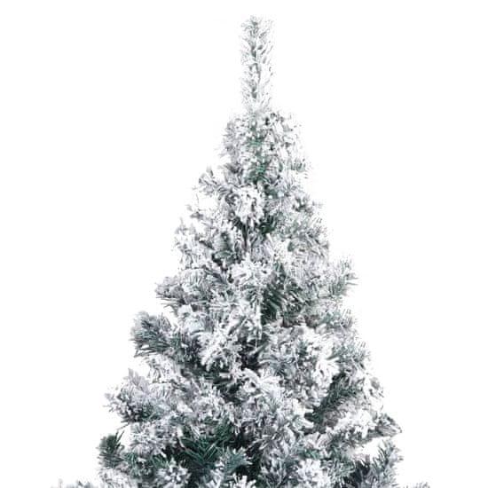 shumee zöld PVC műkarácsonyfa pelyhes hóval 240 cm
