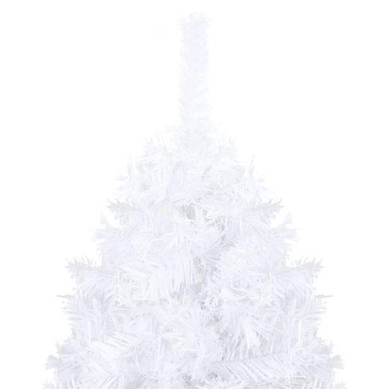 shumee Umetna novoletna jelka z debelimi vejami bela 150 cm PVC