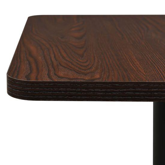 shumee Stolik bistro, ciemny jesion, 78,5x78,5x107 cm