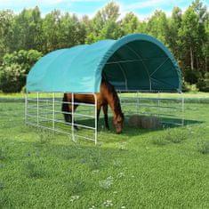 shumee zöld PVC állattartó sátor 3,7 x 3,7 m